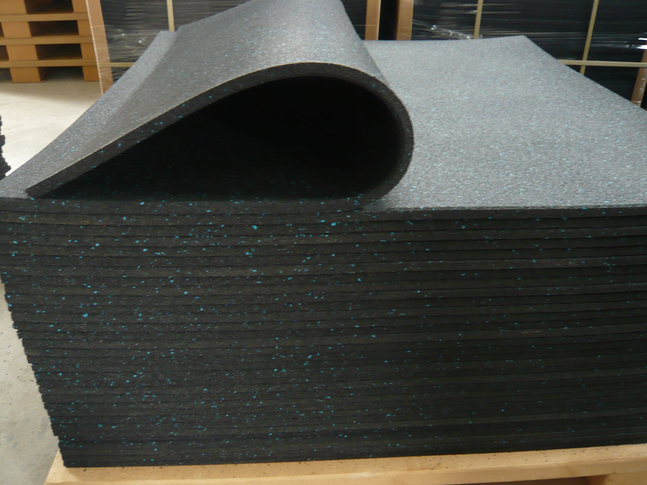 rubber floor tile