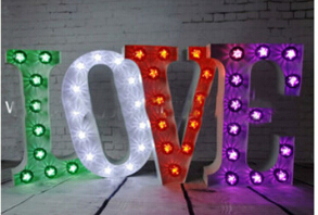 wedding vintage marquee letter