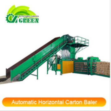 High Quality Global Green Automatic Hydraulic Baler for Paper Carton Cardboard