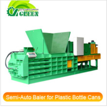 Semi-Automatic Horizontal Baler for Plastic Bottle Cans