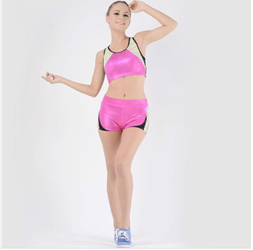 Pink short sports wear .fitness wear .gym wear