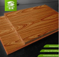 LEEAD UV coating printed wood grain kitchen cabinet doors- waterproof wpc material