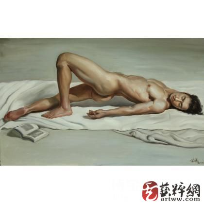 man body oil painting