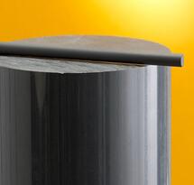 High Quality Solid Dark Grey PVC ROD