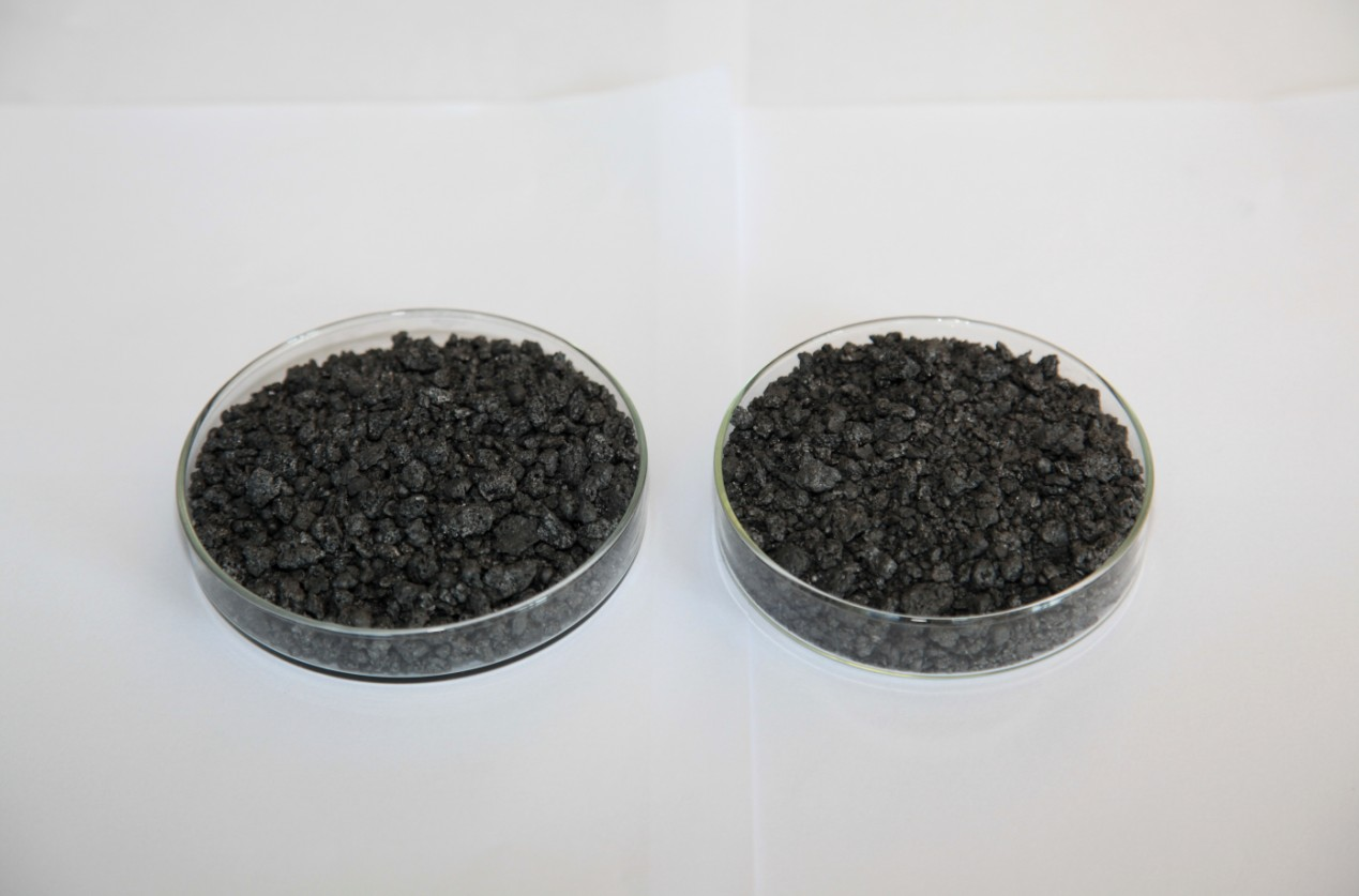The calcined petroleum coke