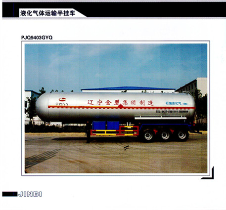 Liquefied gas transportation semi-trailer