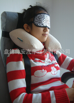 Seat sleep protector with neck pillow and safety belt