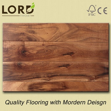 Small Leaf Acacia Hardwood Flooring Natural Color