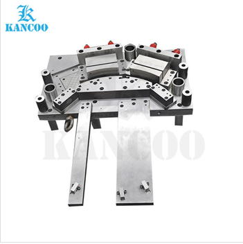 Metal alloy progressive stamping die tool for metal parts