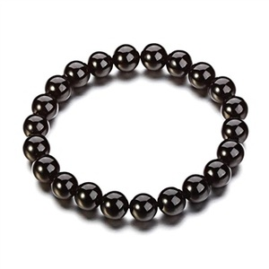 2013 Best sale quality products natural 10mm perfect round shape gemstone natural agate black oval barcelet