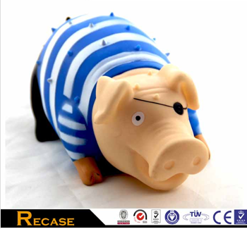 plastic latex pig pet toy rubber squeakers rubber squeeze toys