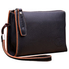 2014 Men's Wrist Strap Cowhide Leather Fashion Clutch Bag