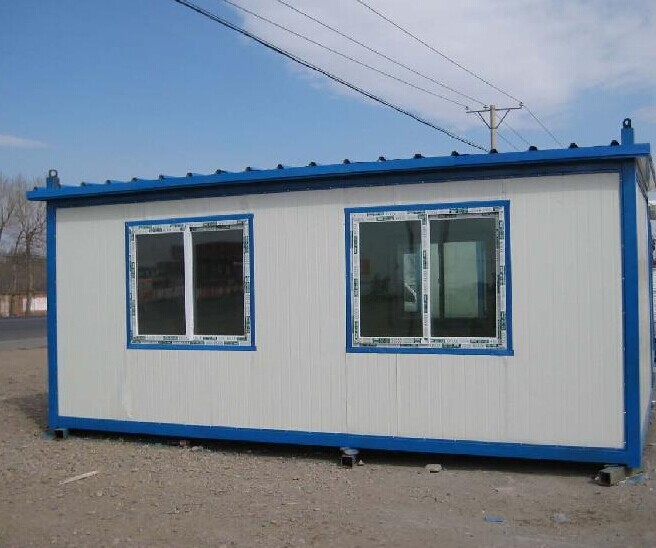 China one floor sloping top 43sqm modular sandwich panel house