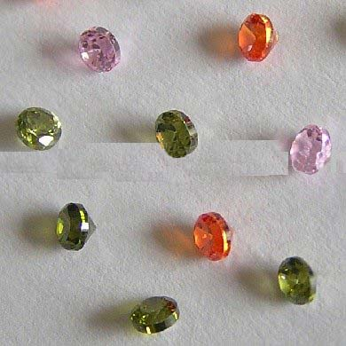 Girdle cz thick rim cut in colors stone