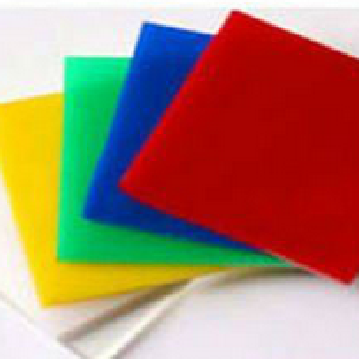 Colored plastic board