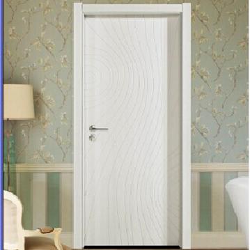 White paint solid wood door/generous interior composite wood door