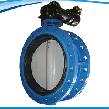 Size double flange butterfly valve