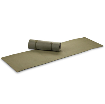 Olive drab roll up military foam sleeping pad