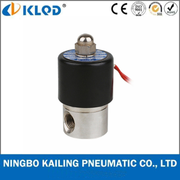 Normally Closed Stainless Steel direct acting solenoid valve 2WB-06
