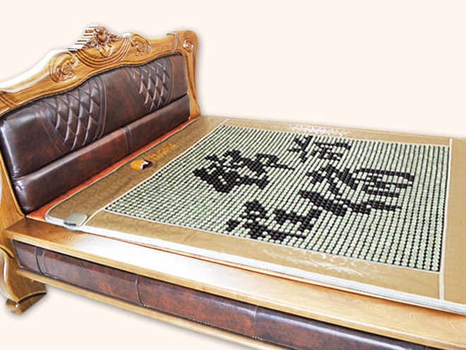 Natural jade mattress with Chinese words, germanium mattress