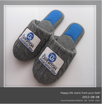 New fashion wholesale happy orthaheel haflinger knitted handmade wool slippers
