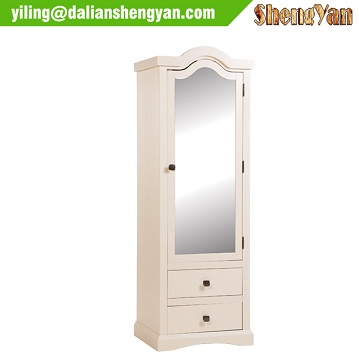 Antique Classical Wardrobe with Mirror