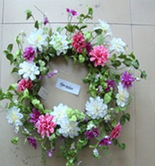 New arrival Artificial Flowers Wreath for spring Wholesale for home and wedding decoration 2014 Fashion new design pretty