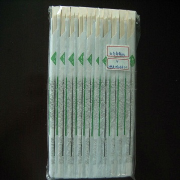 bamboo chopsticks with inner paper bag