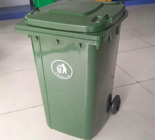 240L Plastic dustbin with EN840 Certificate