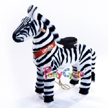 PonyCycle Ride On Toy plush zebra toy for kids