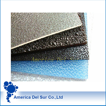 OEM diamond shape polycarbonate embossed solid sheet