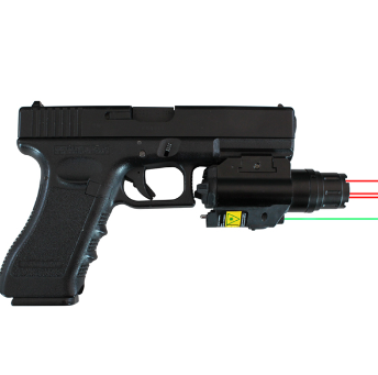 Military Tactical Pistol Mini Picatinny Rail Tri Beam Laser sight for Self-defense