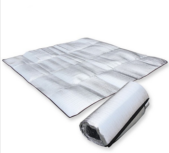 Aluminum foil camping ground waterproof picnic mat for grass