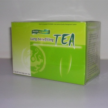 Organic herbal tea for lung and relieving cough