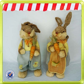 New Easter decoration rabbit handicraft with good price