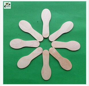 wooden ice cream spoon