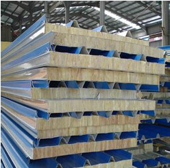 Glass wool sandwich panel for roof