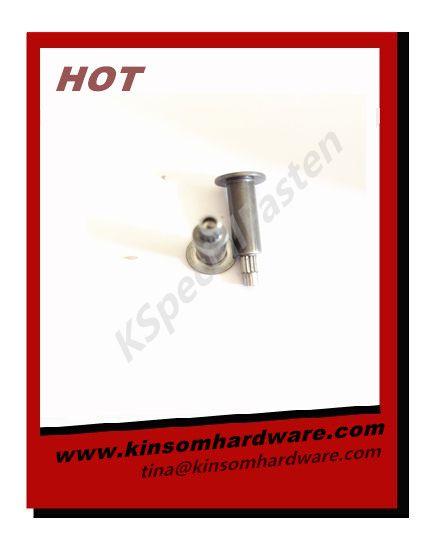 Special semi-tubular rivets flat head step knurling rivets