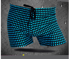 men's trunks plaid fabric