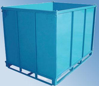 steel pallet box container
