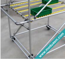 aluminum tube storage rack