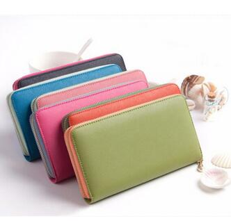 2015 best quality woman wallet purese lady handbags 6 colors fashion girl hand box big volume