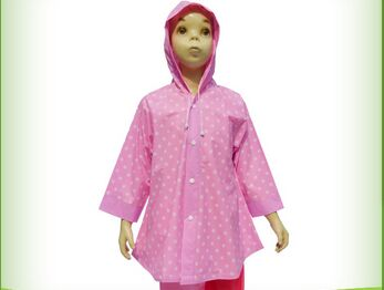 full printing raincoat jacket for girls