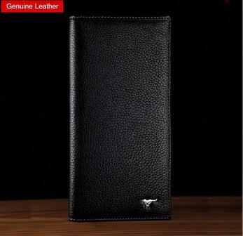 2015 best quality man purse genuine leather wallet full grain leather 11 card holders
