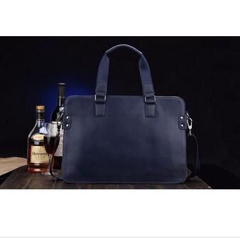 2015 best quality full grain leather man handbags man tote bag cow leather genuine leather bag
