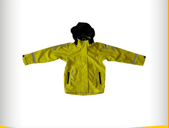 Yellow PU jacket for kids