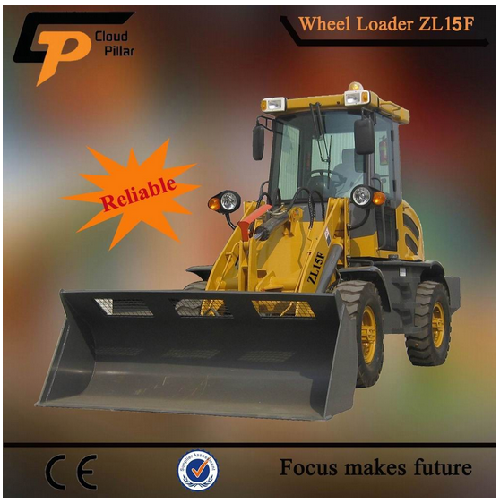 shandong multi-function zl15 wheel loader machine with attachment