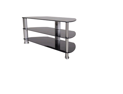 High quality universal lcd modern tv stand curved glass