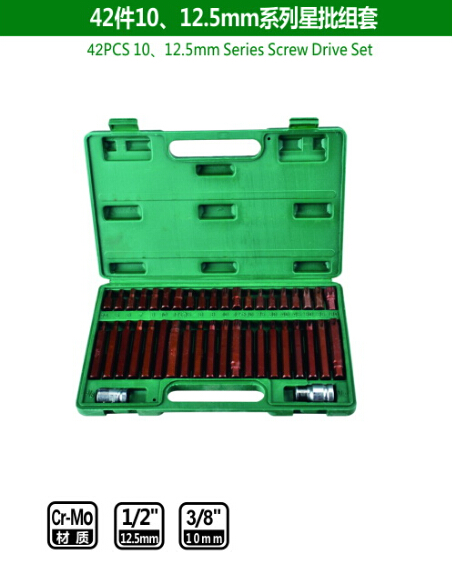 42PCS 10/12.5mm Series Screw Drive Set