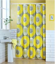 Custom printed shower curtain, polyester shower curtain